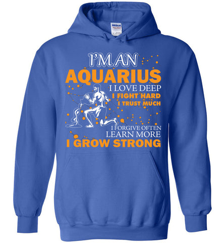Image of I'm An Aquarius I Love Deep I Fight Hard I Trust Much Hoodie