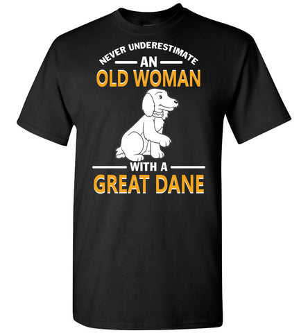 Image of An Old Woman With A Great Dane - OlalaShirt