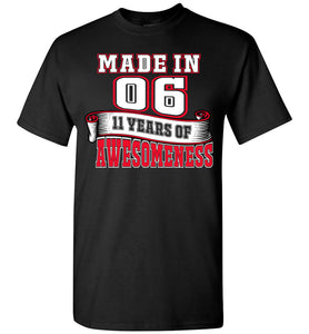 11th Birthday Shirt Gift Age 11 Year Old Boy Girl T-shirt Tee