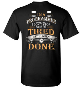 I'm A Programmer Stop When I'm Done