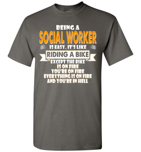 Being A Social Worker Is Easy Shirt - OlalaShirt