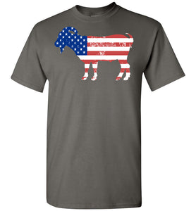 Goat American Flag Fourth of July 4th Celebration Party T-Shirt