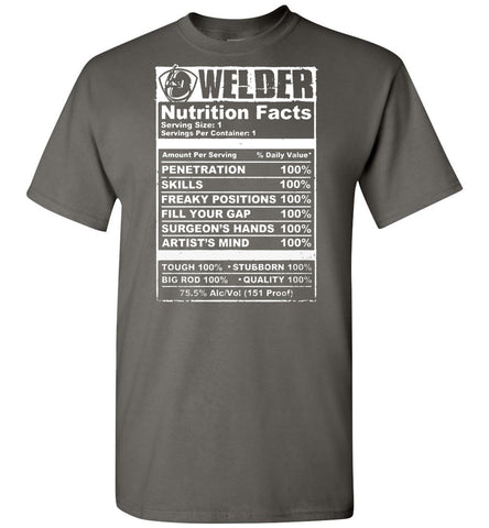 Image of Welder - Nutrition Facts T-Shirt - OlalaShirt