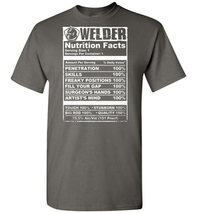 Welder - Nutrition Facts T-Shirt - OlalaShirt