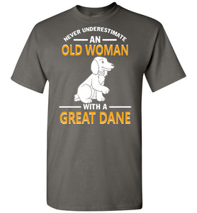 An Old Woman With A Great Dane - OlalaShirt