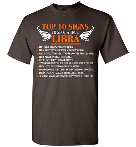 Image of Top 10 Signs To Spot A True Libra 1 The Most Compassion T-Shirt