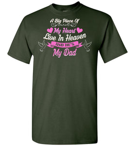 Piece My Heart Lives In Heaven Dad - OlalaShirt