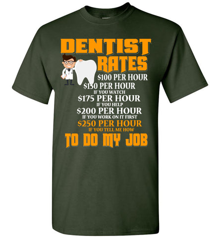 Dentist Hourly Rate T-shirt