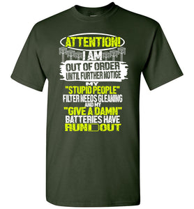 Attention Im Out Of Order Mechanic T-shirt - OlalaShirt
