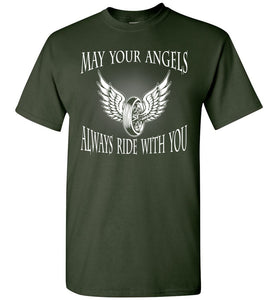 Biker May Your Angel Always Ride With You - OlalaShirt