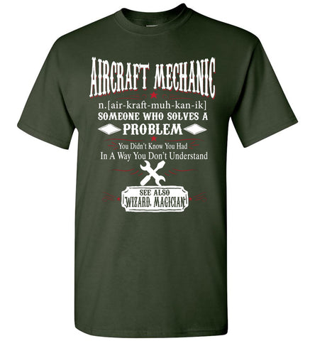 Funny Aircraft Mechanic Meaning T-shirt Noun Definition Gift