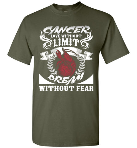 Image of Cancer Love Without Limit Dream Without Fear T-Shirt