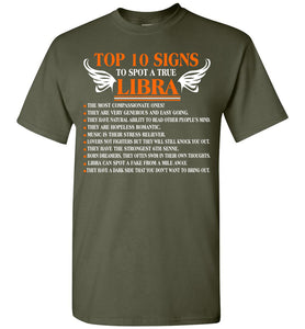 Top 10 Signs To Spot A True Libra 1 The Most Compassion T-Shirt