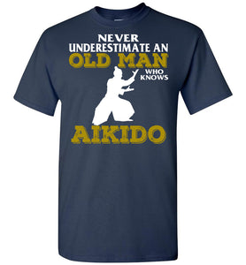 Men's Old Man Aikido T-Shirt - OlalaShirt