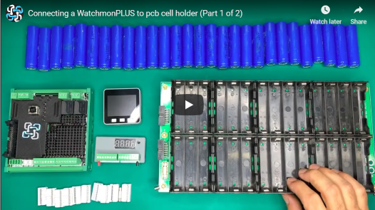 Connecting WatchmonPLUS to 18650 pcb cell holders
