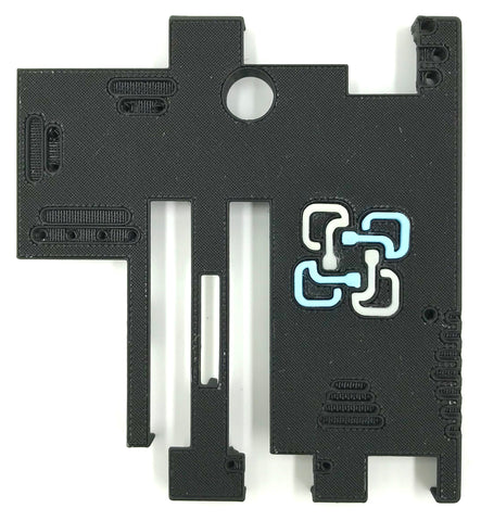 Din-rail 3D printed protector WatchMon1 with ExpansionBoard