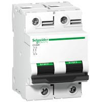 Schneider Electric - Circuit Breaker Voltage release tripping unit and Double Pole Circuit Breaker 125A 15kA