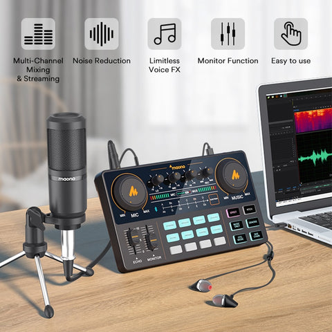 All-In-One Sound Card Podcaster Microphone Mixer Kit All-In-One Sound Card Podcaster Microphone Mixer Kit - Sounds Best