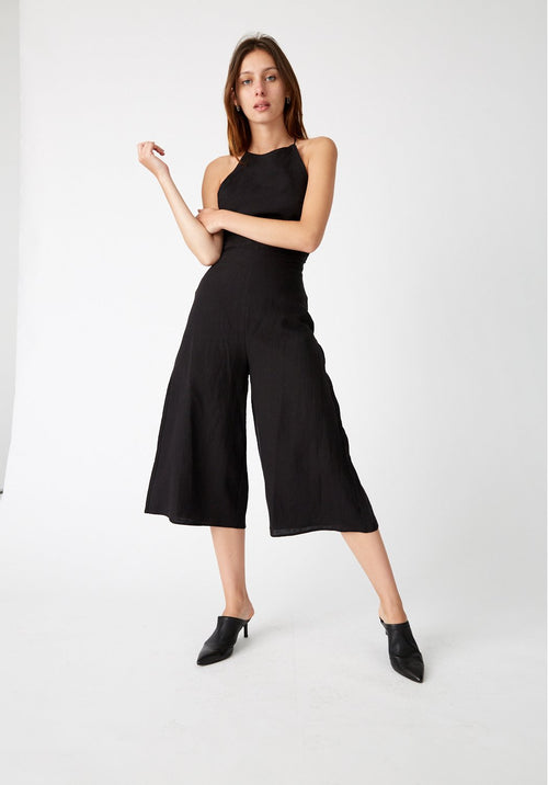 Draw In Jumpsuit in Black - PROJECT TYME