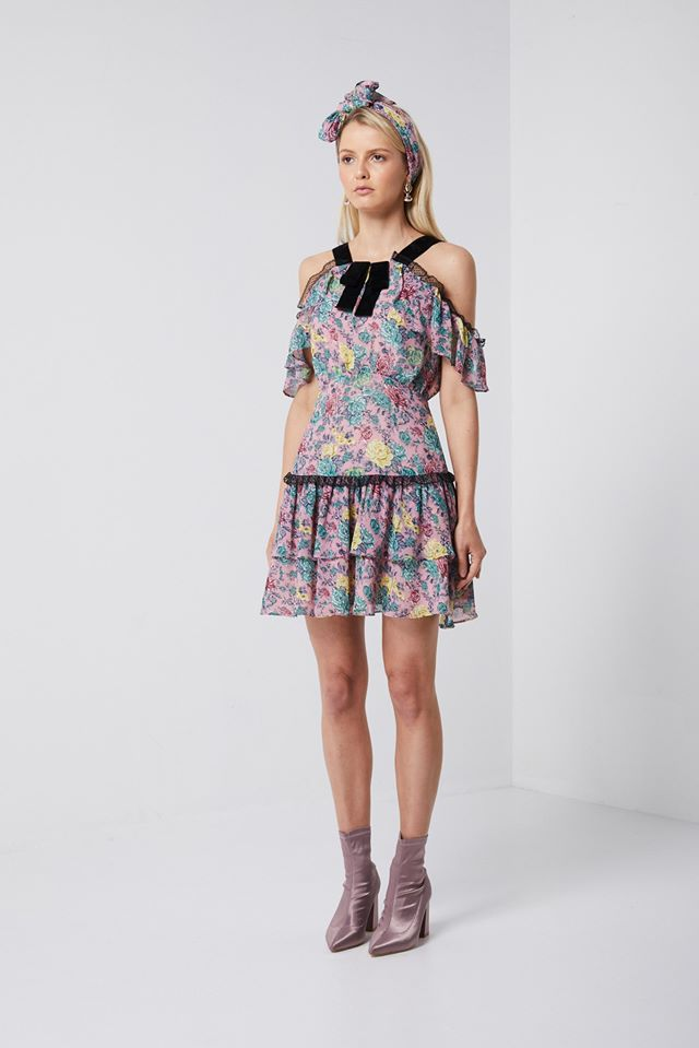 Elliatt Jessi Mini Floral Dress