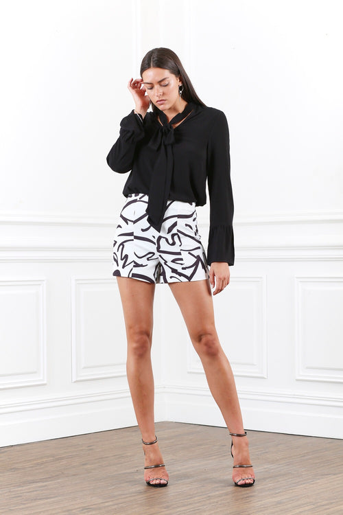 Ornate Print Shorts - PROJECT TYME