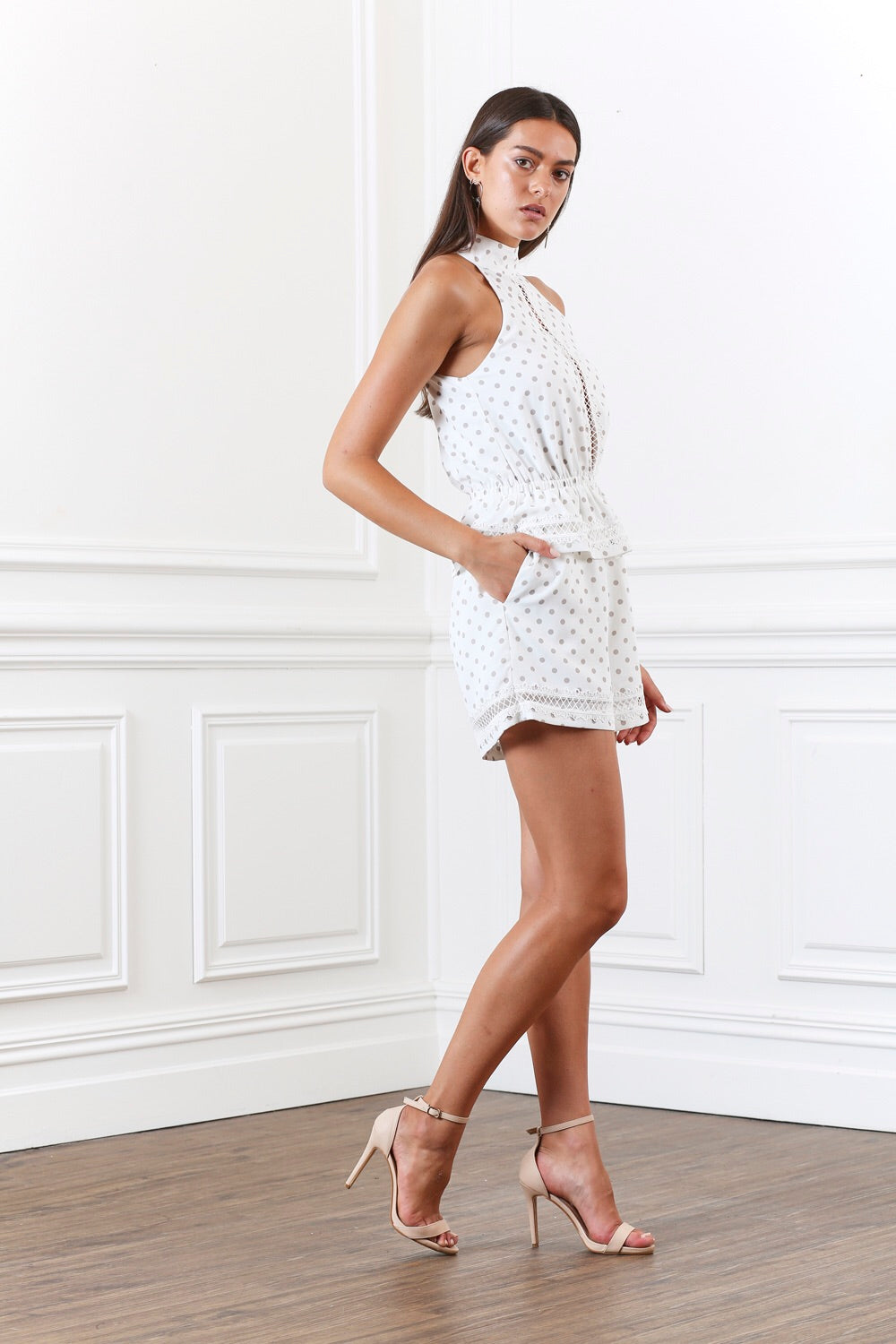 Ornate Dot Romper - PROJECT TYME