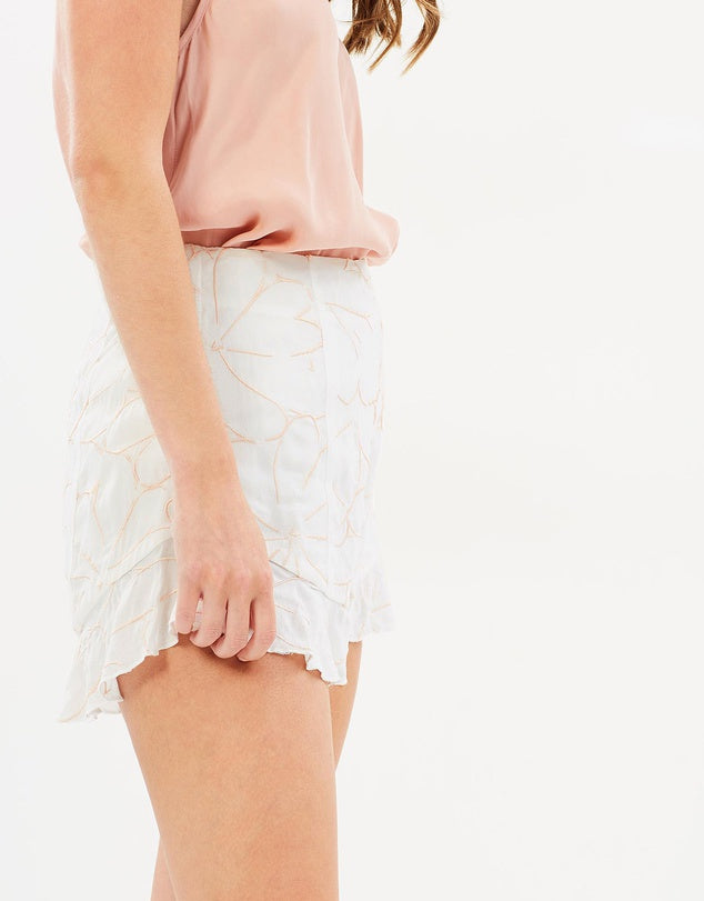 Ashlyn Embroidered Shorts - PROJECT TYME