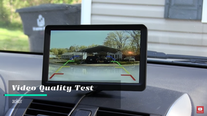 aokur LCD HD Backup Camera setup, settings, & demonstration