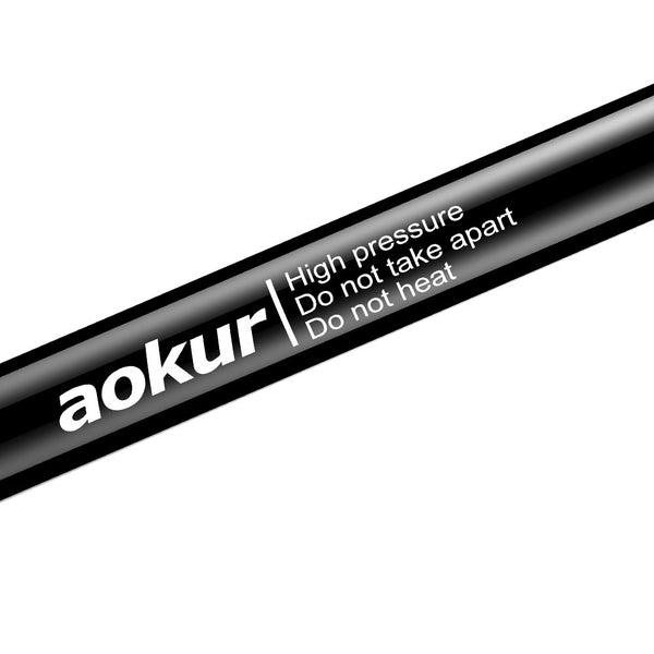 aokur OD61001323 Black 2PCS 6124 Tailgate Gas Charged Lift Support Struts