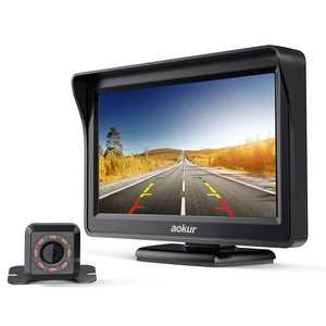 "aokur IR Backup Camera with 4.3"" LCD Monitor"