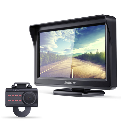 aokur Backup Camera with 4.3'' LCD Rearview Monitor