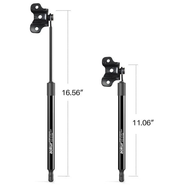 aokur OD61001257 Black 1 Pair 4157 PM2024 Front Hood Lift Support Struts Gas Spring Shocks for Honda Accord 2003-2007