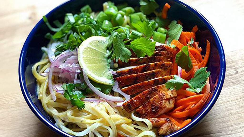 Carrot Curry Noodle Bowl
