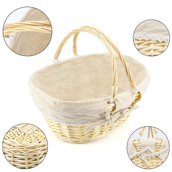 Large Storage Picnic Basket with Double Handles