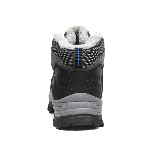 Fur and Plush Lace Up Men Winter Boots