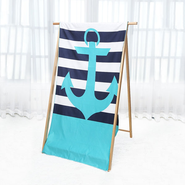Anchor Design Beach Towel
