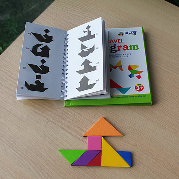 Magnetic Tangram Puzzle Board Game