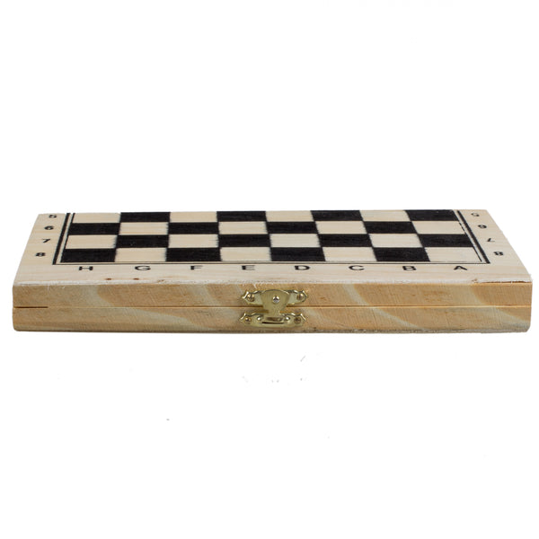 Foldable Wooden Chessboard Travel Game