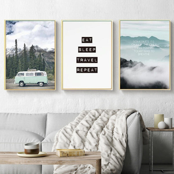 Modern Landscape Inspiring Travel Canvas Paintings Poster Prints