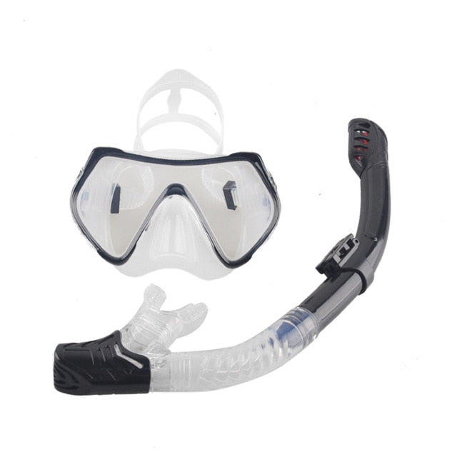 Anti-Fog Diving Mask and Dry Snorkel Tube