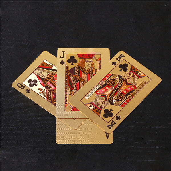 24K Gold Poker Playing Card