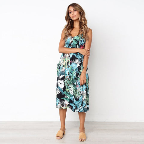 Aaliyah Floral Midi Dress