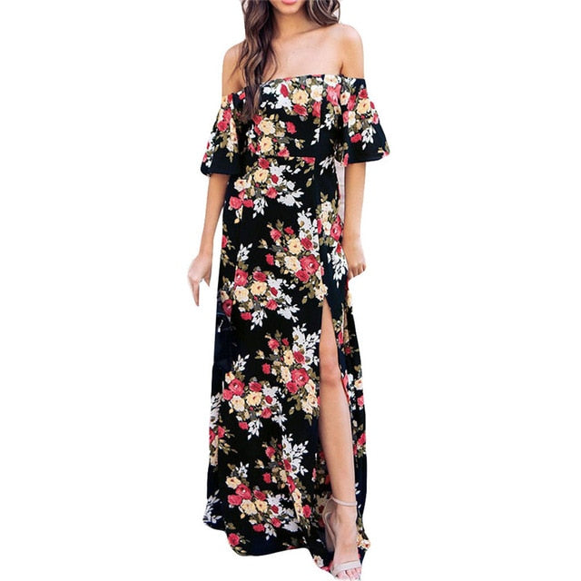 Clarise Off Shoulder Maxi Dress