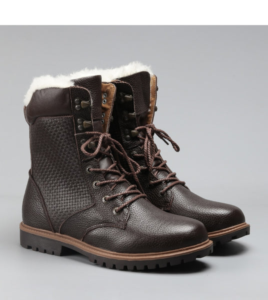 Genuine Leather Handmade Men's Winter Boots