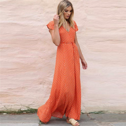 Carina Dotted Maxi Dress