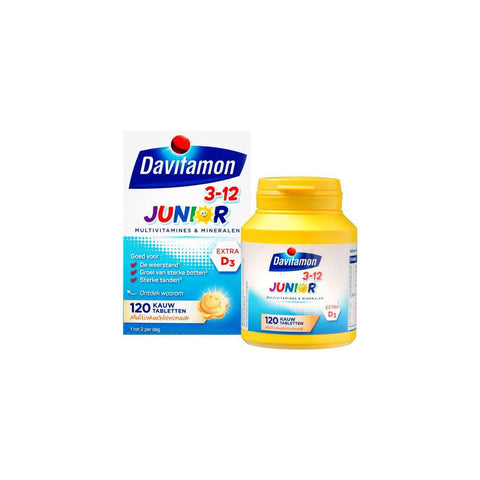 Davitamon Junior 3+ Multifruit Kauwtabletten - 120 stuk