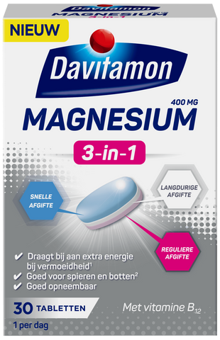Davitamon Magnesium 3-in-1 - 30 tabletten