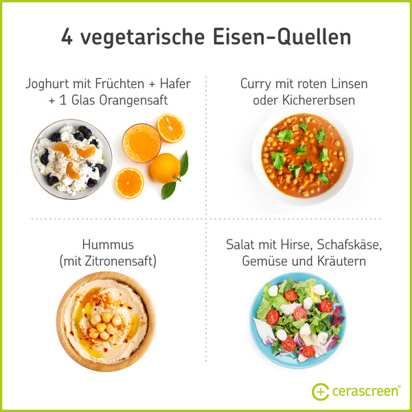 Vegetarien meals that supply you with iron