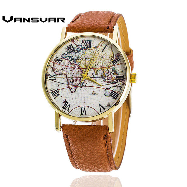 World Map Watches Quartz, [TopTrends_4U]