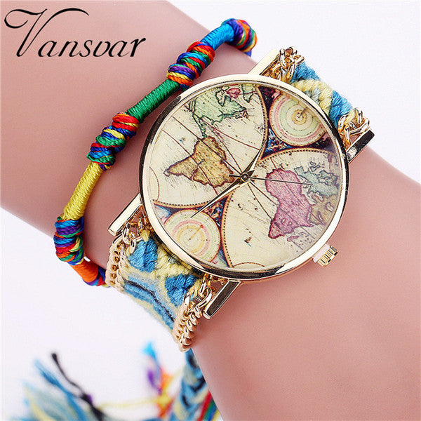 World Map Bracelet Watch, [TopTrends_4U]